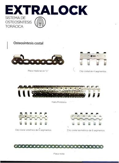 Osteosíntesis para reconstrucción de pared torácica sistemas